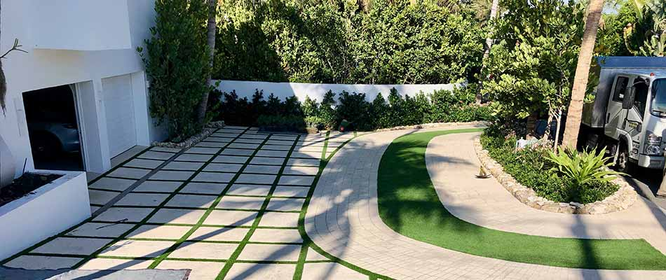 Our company's custom patio installation for a luxury home in Palm Beach, FL.