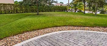 Freshly mowed lawn in Palm Beach, FL.